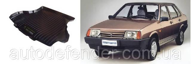 Коврик в багажник для Lada Лада ВАЗ 21099 1990-11, резино-пластиковый (Lada Locker)