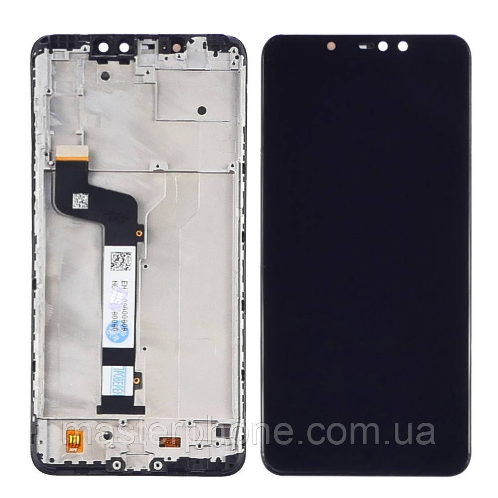 Дисплей для Xiaomi Redmi Note 6 Pro с чёрным тачскрином и корпусной рамкой