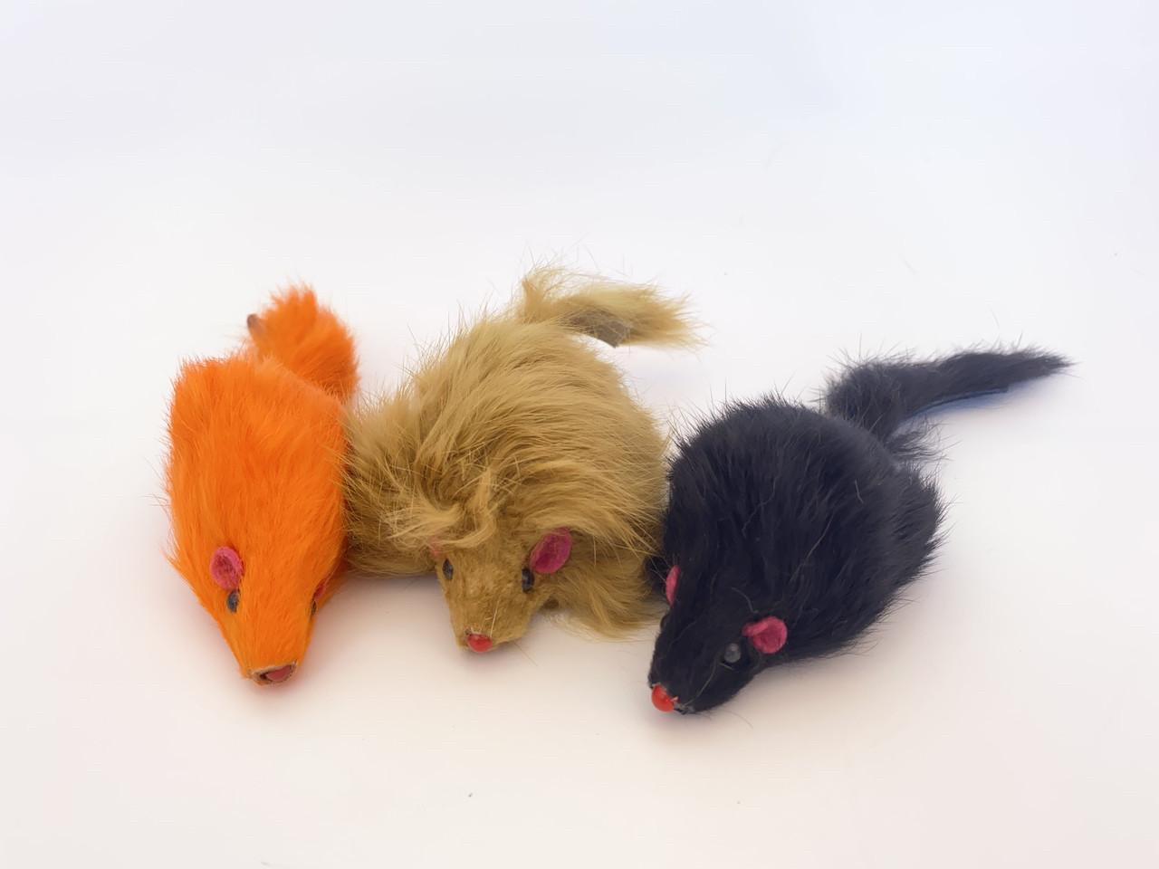Игрушка для котов цветная мышь, 15 см