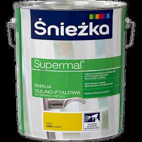 Эмаль масляно-фталевая Sniezka SUPERMAL ЖЕЛТЫЙ F565 10 л