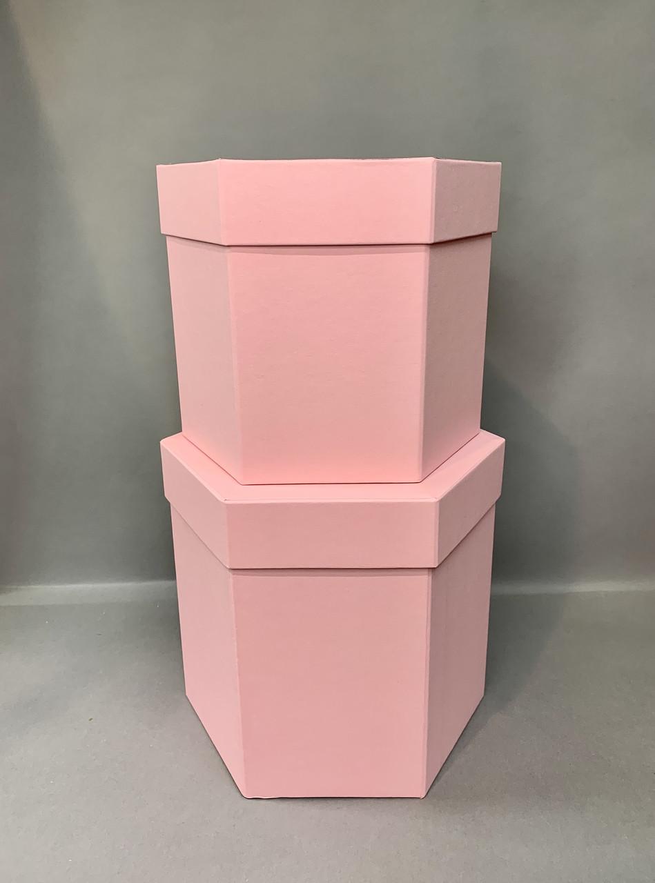 Коробка шестигранная(Св. розовый мат)