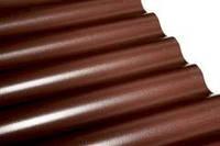 Шифер из ПВХ Salux WBS 76/18 2*0.9 - коричневый, волна