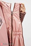 Двусторонняя демисезонная куртка для беременных FLOYD капучино с персиковым, фото 6