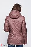 Двусторонняя демисезонная куртка для беременных FLOYD капучино с персиковым, фото 3