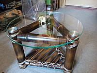 Кофейный столик из бамбука и стекла