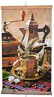 Настенный картина обогреватель электрический (Кофе) Трио, фото 1
