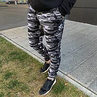 Мужские спортивные штаны Камуфляж демисезонные(Весна-Осень) с манжетом