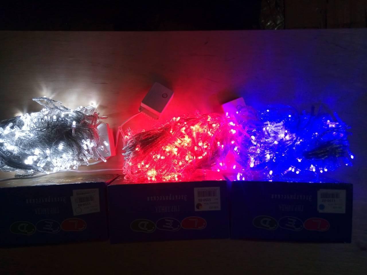 Новогодняя светодиодная гирлянда 300LED 18м белый