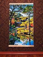 Картина обогреватель Трио (Японский сад) настенный пленочный инфракрасный электрообогреватель, фото 1