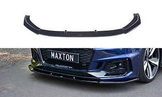 Элерон Audi RS4 B9 тюнинг обвес губа переднего бампера (V1)