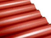 Шифер из ПВХ Salux WBS 76/18 2*0.9 - красно-коричневый, волна