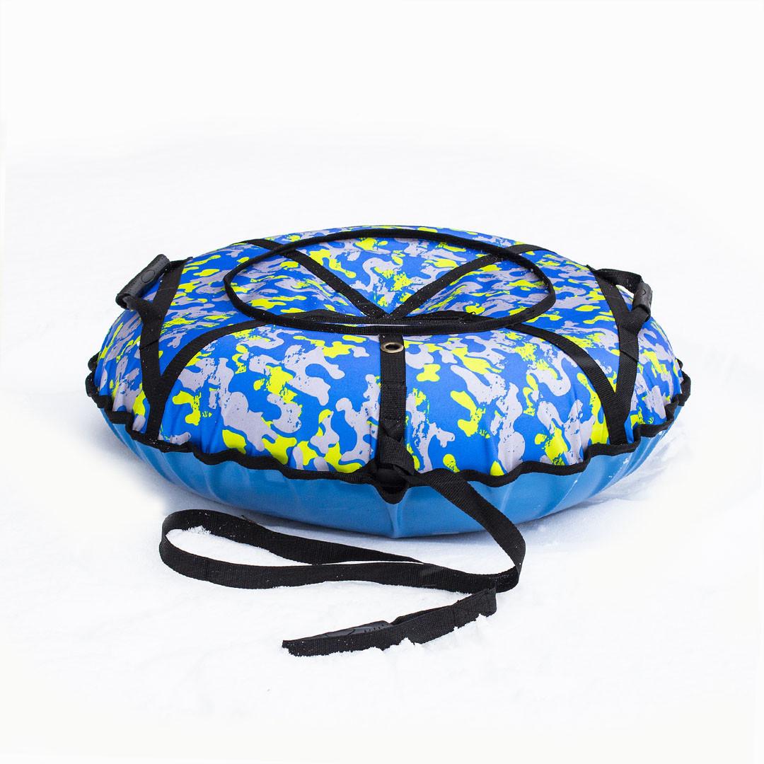 Тюбинг надувные санки ватрушка d 100 см серия Прокат Усиленная Камуфляжного цвета для детей и взрослых