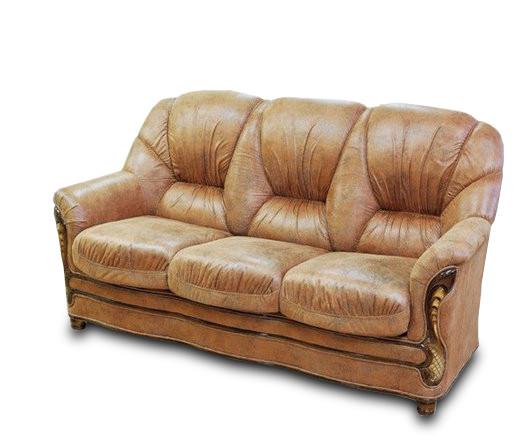 Прямий шкіряний диван Рубі
