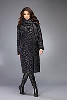 Пуховик женский зимний тёплый чёрный на изософте и верблюжьей шерсти с капюшоном Marshal Wolf MO-83 (0083)