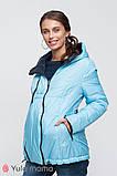 Двусторонняя демисезонная куртка для беременных FLOYD OW-30.011 синяя с голубым, фото 4