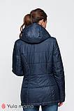 Двусторонняя демисезонная куртка для беременных FLOYD синяя с голубым, фото 3