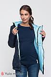 Двусторонняя демисезонная куртка для беременных FLOYD синяя с голубым, фото 2