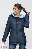 Двусторонняя демисезонная куртка для беременных FLOYD синяя с голубым, фото 5