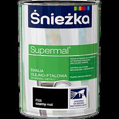 Емаль олійно фталева Sniezka Supermal ЧОРНА 0,8л PL (F105) МАТОВА
