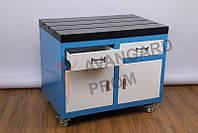 Стол-верстак 600х900 на колесиках для резьбонарезного манипулятора с ящиками