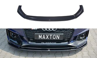 Сплиттер Audi RS4 B9 тюнинг обвес элерон юбка диффузор (V2)
