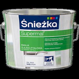 Эмаль масляно-фталевая Sniezka SUPERMAL БЕЛАЯ (глянцевая) RAL9003 2.5л PL