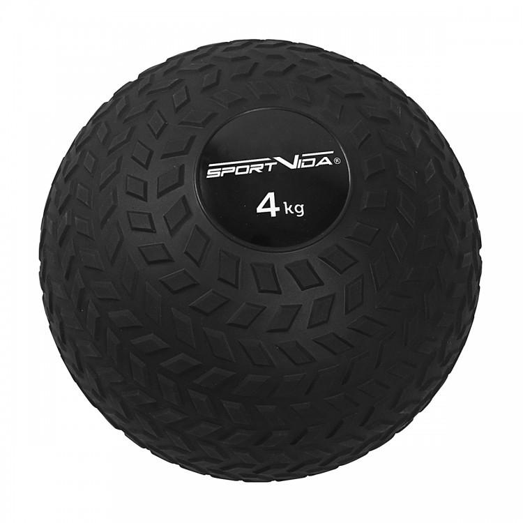 Слэмбол-медбол 4 кг SportVida Slam Ball для кроссфита, реабилитации, силовых тренировок