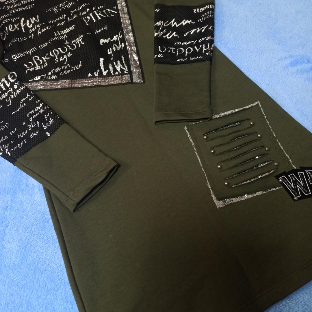 Платье- туника для девочки модное с карманом.