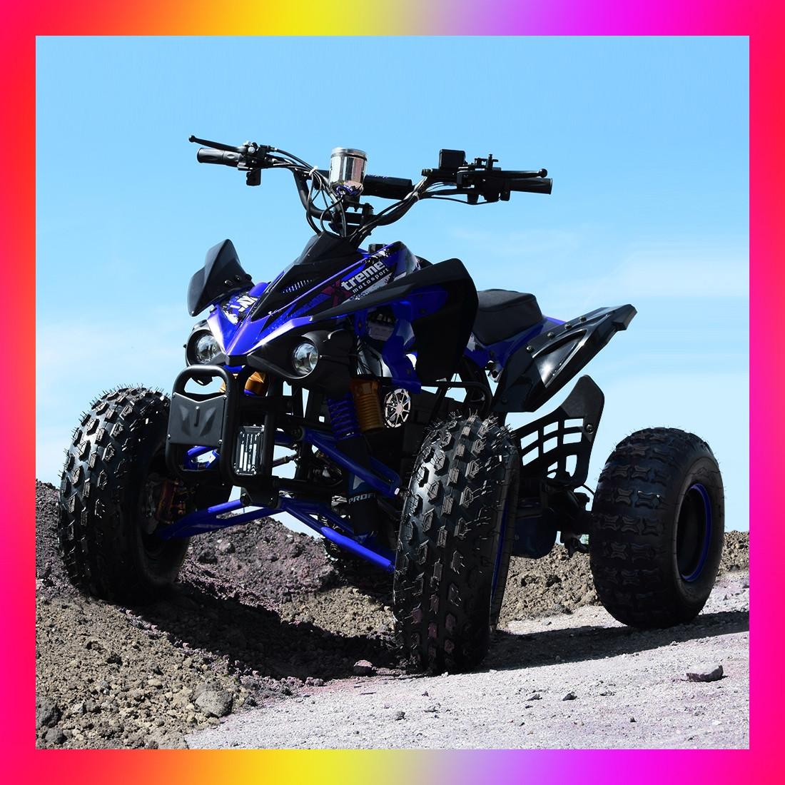 Квадроцикл электрический с мотором 1000W Profi HB-EATV1000Q2-7 (MP3) синий для детей от 8 лет