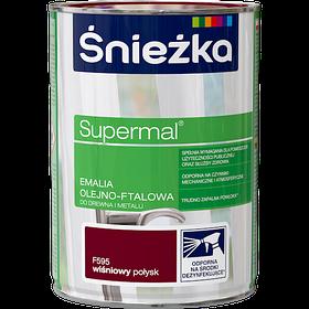 Эмаль маслянно фталевая Sniezka Supermal (ВИШНЕВАЯ) 0,8л (F595)