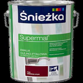 Эмаль маслянно фталевая Sniezka Supermal ВИШНЕВАЯ 10л PL (F595)