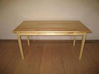 Стол детский прямоугольный из натуральной древесины (81113) h=460/520/580 мм