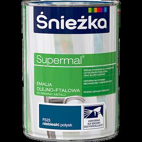 Эмаль маслянно фталевая Sniezka Supermal ГОЛУБАЯ 0,8л (F525)