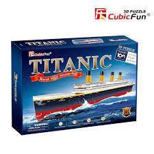 """Тривимірна головоломка-конструктор """"Титанік"""" cubic fun (T4011h)"""