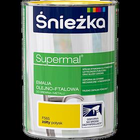 Эмаль маслянно фталевая Sniezka Supermal Желтая (F565) 0,8л
