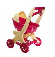 Игрушечная коляска для кукол и пупсов с люлькой (50*30*40 см) для детей от 3 лет Розовая