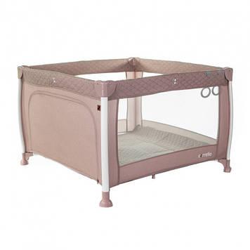 Детская кровать манеж CARRELLO Cubo CRL-11602/1 Flamingo Pink