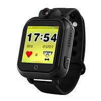 Детские смарт-часы Smart Baby Watch BLKQ200 Android 3G с GPS-модулем Черные