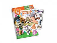 """Игра с мягкими наклейками для детей""""44 Кота. Котята дома"""" VT4206-39 (укр)"""