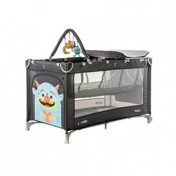 Детская кровать манеж со вторым дном Много функциональный манеж для ребенка