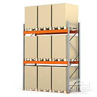 Стеллажи паллетные 3500(h)х2700х1100 мм (3 яр. х 3030 кг)