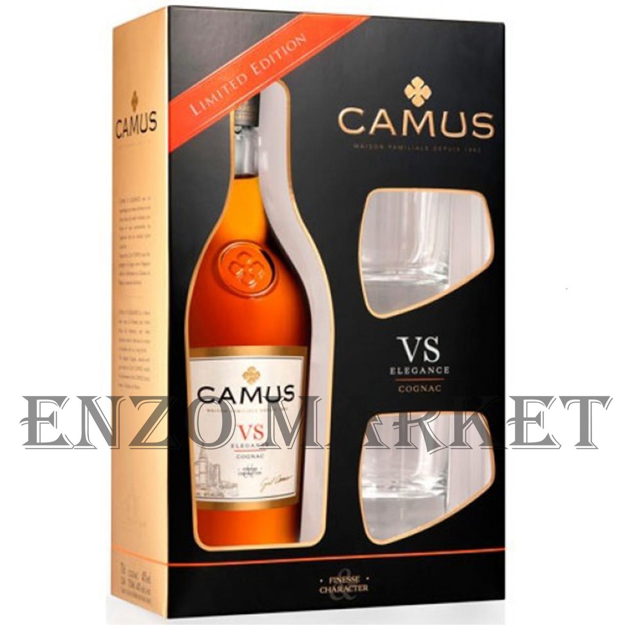 Коньяк Camus VS Elegans + 2 glasses (Камю ВС Элеганс со стаканами) 40%, 0,7 литра