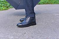 Ботинки кожаные черные укороченные, фото 1