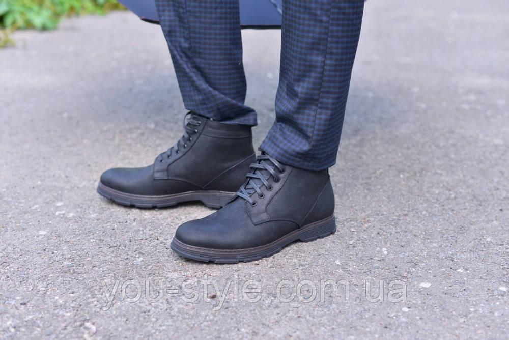 Ботинки черная кожа сарагоса натуральная