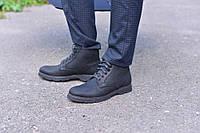 Ботинки черная кожа сарагоса натуральная, фото 1