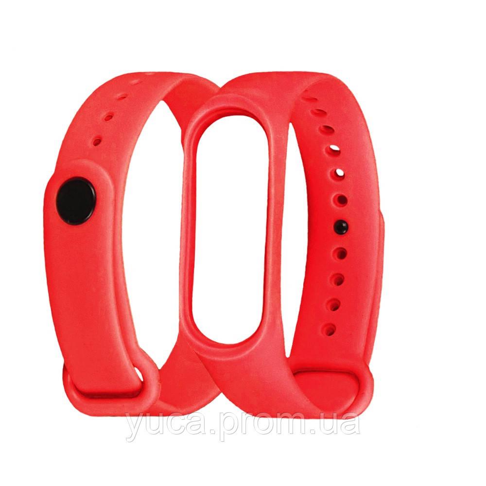 Ремешок силиконовый для Xiaomi Mi Band 3/ 4 красный