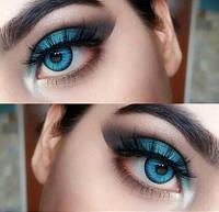 Голубые линзы Cos для карих глаз, кукольные голубые линзы недорого