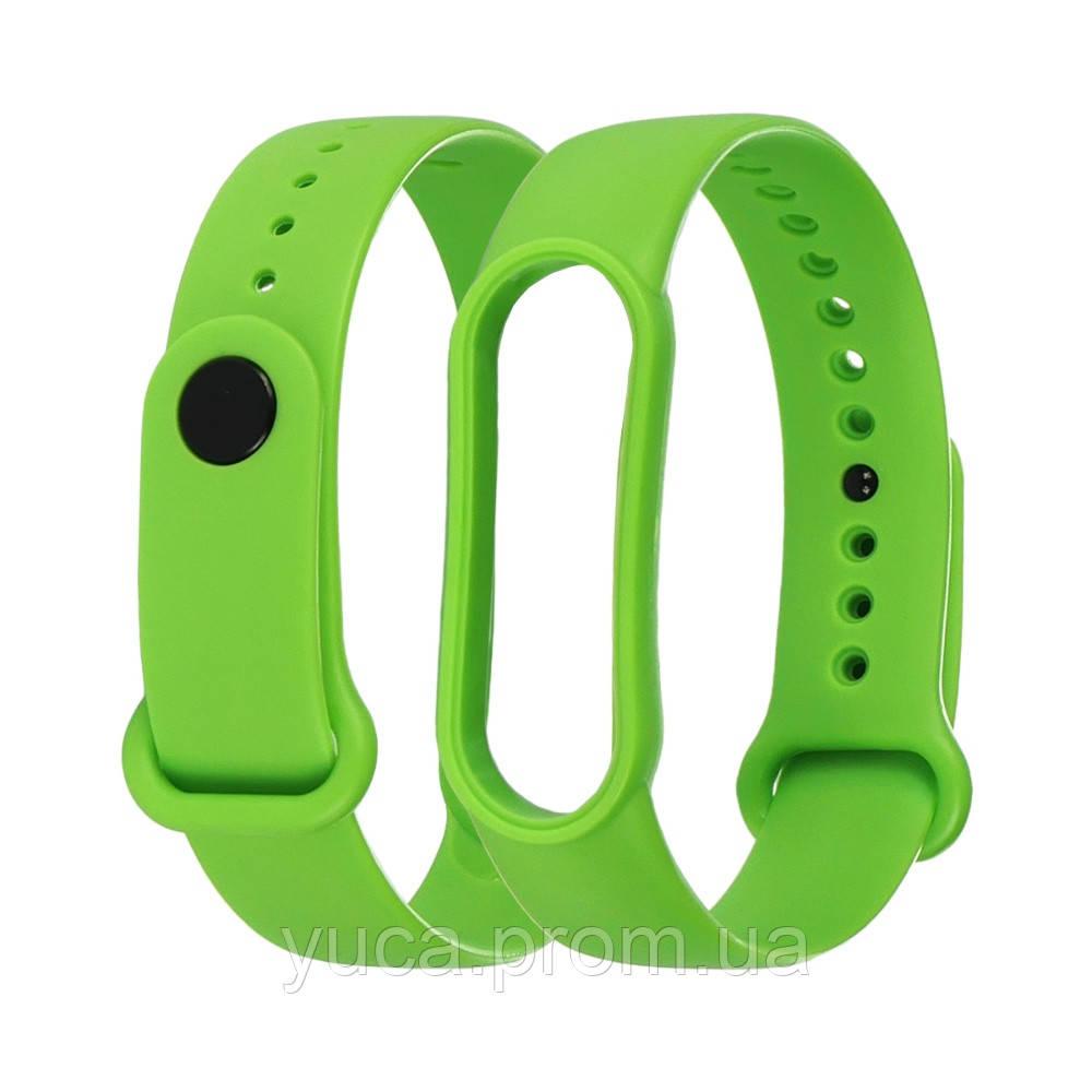 Силіконовий ремінець для Xiaomi Mi Band 5 зелений
