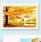 Алмазна вишивка сонячні барви осені 40х30 см, повна викладка, фото 2