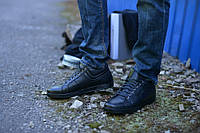 Ботинки натуральная кожа укороченные черные, фото 1